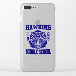 hawkins middle school Clear iPhone Case
