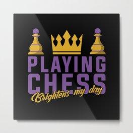 Chess, Chess King, Chess Queen Metal Print