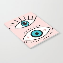 eye illustration print Notebook