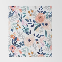 Jolene Floral Throw Blanket