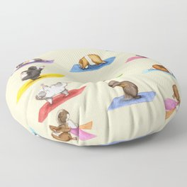 The Yoguineas - Yoga Guinea Pigs - Namast-hay! Floor Pillow