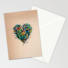 Heart Splatter Stationery Cards