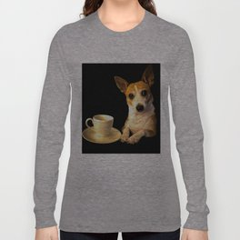 Tea Time with Puppy Long Sleeve T-shirt