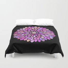 Flower Mandala Rose Gold And Purple Duvet Cover