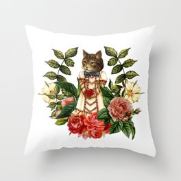 The Rabbit and the Cat Throw Pillow