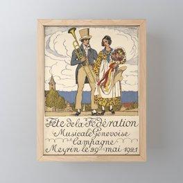 Advertisement fete de la federation musicale Framed Mini Art Print