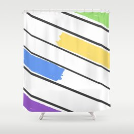 Color In Between the Lines Shower Curtain