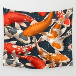 Koi Fishes Wall Tapestry