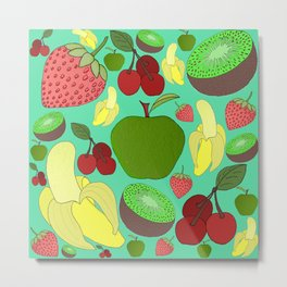 Fruit Explosion Metal Print