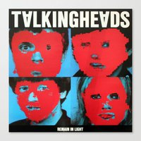 talking heads Canvas Prints featuring Talking Heads - Remain in Light by NICEALB
