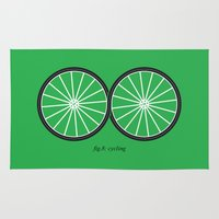 cycling Area & Throw Rugs featuring Fig.8: cycling by micheleficeli