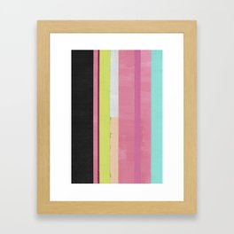 Retro Color Stripes By Hand Painting / Ver.1 Framed Art Print