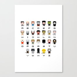 Horror Movies Alphabet Canvas Print