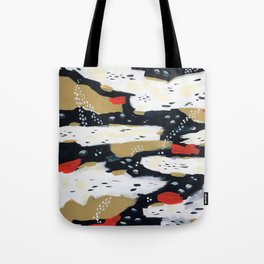Spotted Abstract in Neutral Tote Bag