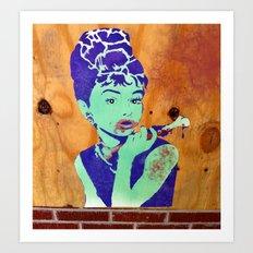 Zombie Hepburn Art Print