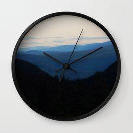 Chic-Choc Mountain Tops Wall Clock