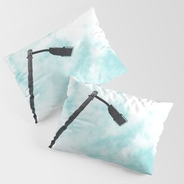 Turquoise Sky Clouds Pillow Sham