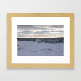 Gelatinous Wave Framed Art Print