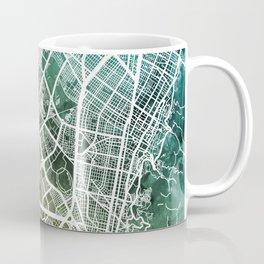 Bogota Colombia City Map Coffee Mug