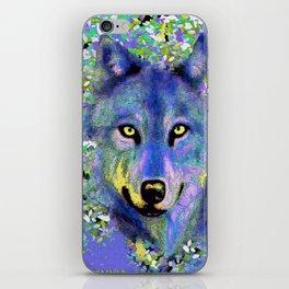 WOLF IN THE GARDEN iPhone Skin