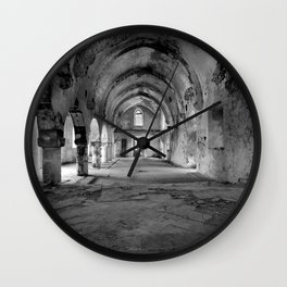 A derelict churh in Northern Cyprus Wall Clock