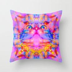 Funky Reincarnation-Lady Jasmine Throw Pillow