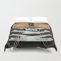 vans Duvet Covers featuring Cute black Vans all star baby shoes apple iPhone 4 4s 5 5s 5c, ipod, ipad, pillow case and tshirt by Three Second