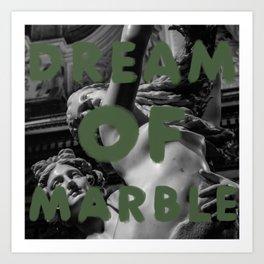 Dream Of Green Marble Art Print