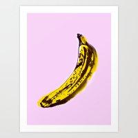 banana Art Prints featuring Banana by June Chang Studio