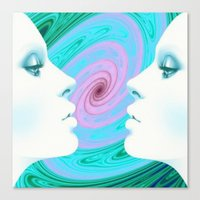 psychedelic Canvas Prints featuring Psychedelic by Emi Nellenbach