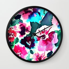 Zoe Floral Pink Wall Clock