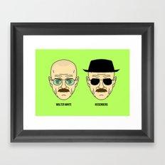 Walter White or Heisenberg? Framed Art Print