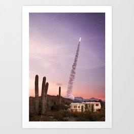 Rocket Desert Kunstdrucke