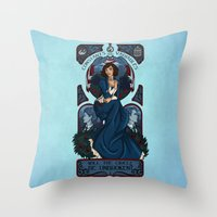 bioshock infinite Throw Pillows featuring Infinite Nouveau by Miss-Lys
