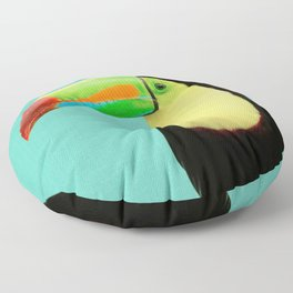 Toucan Bird - Blue Floor Pillow