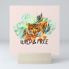 Wild and Free Tiger Mini Art Print