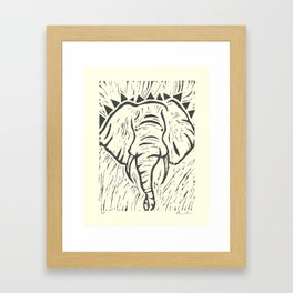 Friends of David Sheldrick Wildlife Trust - Elephant Block Print Framed Art Print