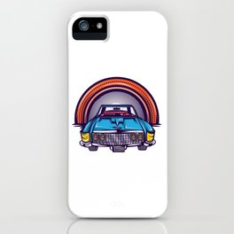 Are You A Vintage Person? Car Lover? Here's A Detailed Design Of  Muscle Car T-shirt Design iPhone Case