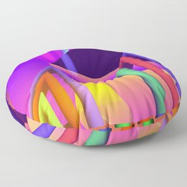 prism and refraction -2- Floor Pillow