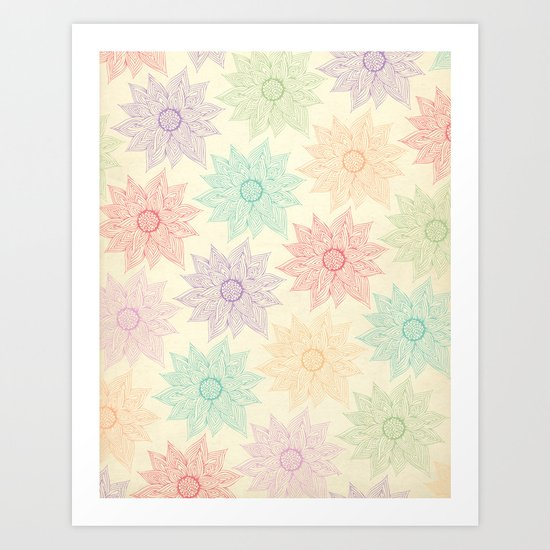 Spring Floral Art Print By Pom Graphic Design Society6