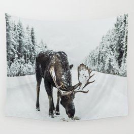 Moose in the wild Wall Tapestry