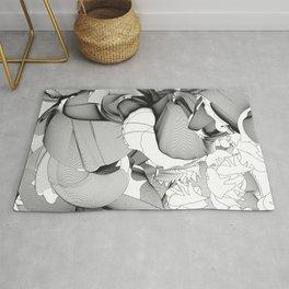 Metamorfosis #1 Abstract Art Line Rug