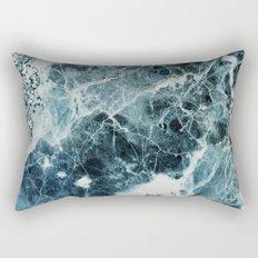 Blue Sea Marble Rectangular Pillow