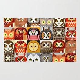 North American Owls Rug