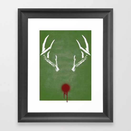 Rudolph the Bloody Nosed Reindeer Framed Art Print