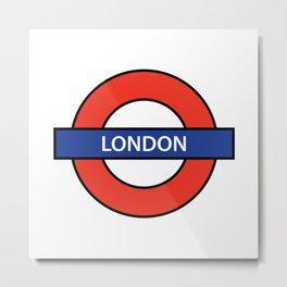 The London Underground Metal Print