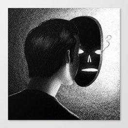 Drawlloween 2013: Mask Canvas Print