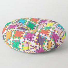 Rainbow Quilt 5 Floor Pillow