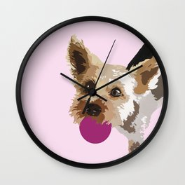 Rex in pink Wall Clock