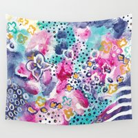 wings Wall Tapestries featuring Wings by Sheila Delgado